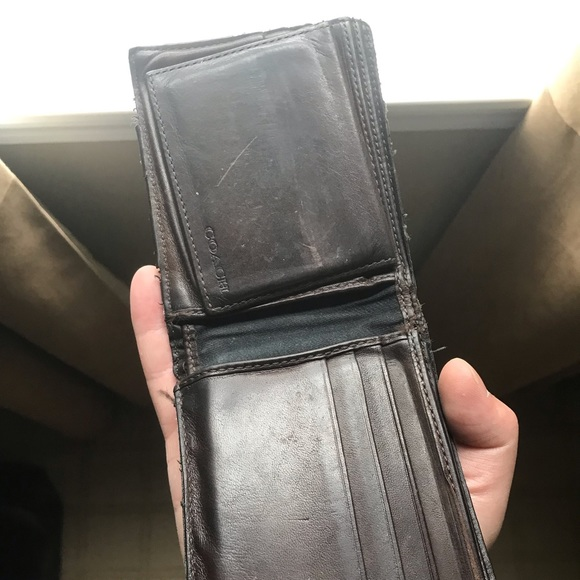 9350ba1115 Mens Coach Brown Leather Wallet